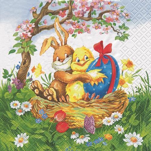 20 Servietten Easter Friends - Osterfreunde 33x33cm