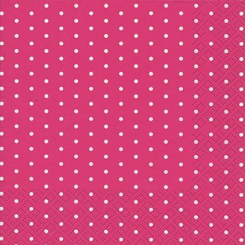 20 Servietten Mini Dots berry - Mini-Punkte berry 33x33cm