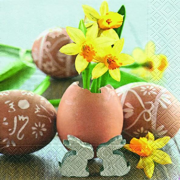 20 Servietten Small Easter Greetings - Fröhliche Ostergrüße 33x33cm