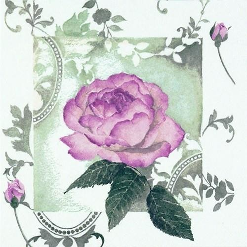 20 Servietten Enchanted Rose Vintage rose - Traumhafte Vintage Rose 33x33cm