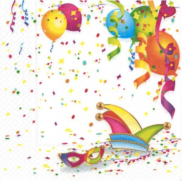 20 Servietten It´s Party Time - Zeit zu feiern 33x33cm