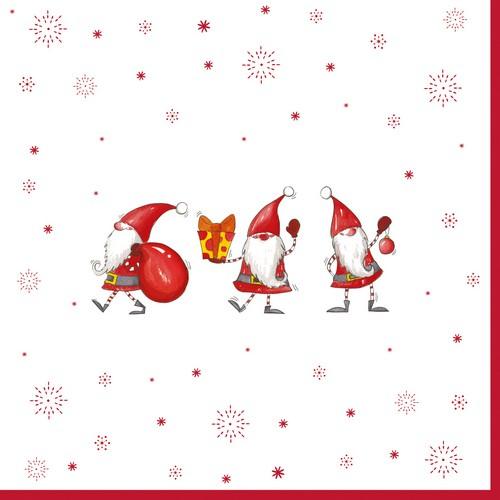 EasyLife Servietten Christmas Gnomes 33x33cm