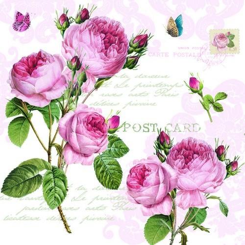 EasyLIfeServietten Romantic Roses 33x33cm