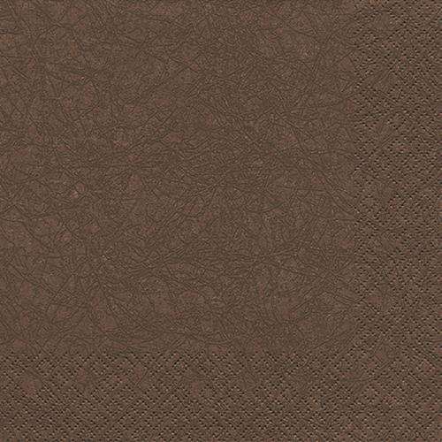 20 Servietten Modern Colours braun 33x33cm