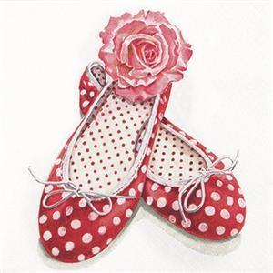RP 20 Servietten AliceŽs shoes - Traum jeder Frau 33x33cm