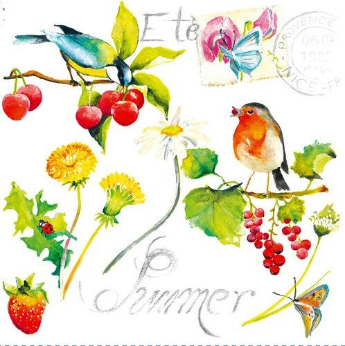Dommos Servietten Summer Birds 33x33cm