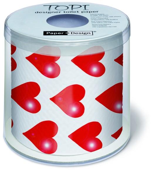 Toilettenpapier Rolle bedruckt Hearts - Herzen