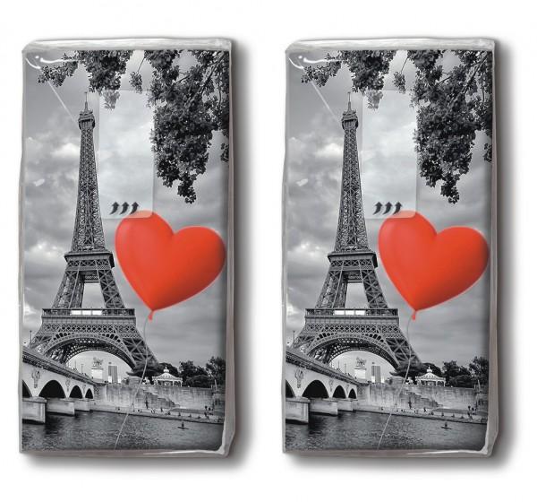 2x 10 Taschentücher City of Love - Liebe liegt in der Stadt