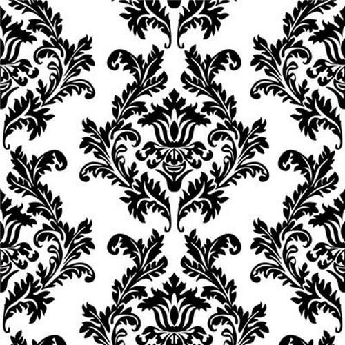 20 Servietten White & Black Wallpaper 33x33cm