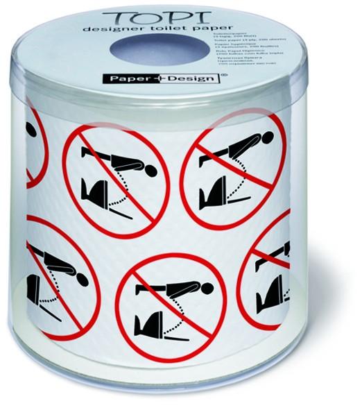Toilettenpapier Rolle bedruckt Stop it - Aufhören!