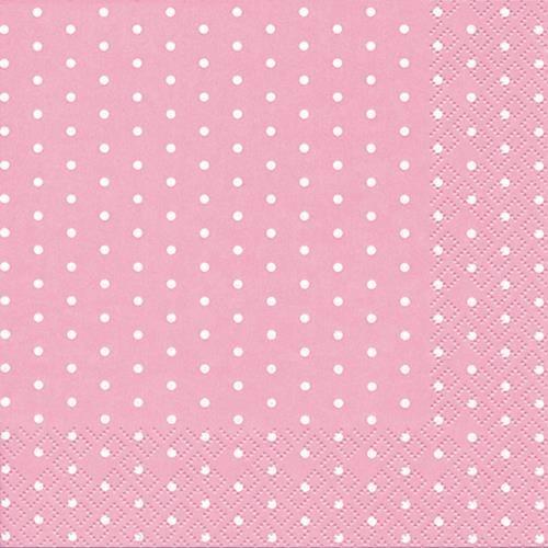 20 Servietten Mini Dots rose - Mini-Punkte rosa 33x33cm