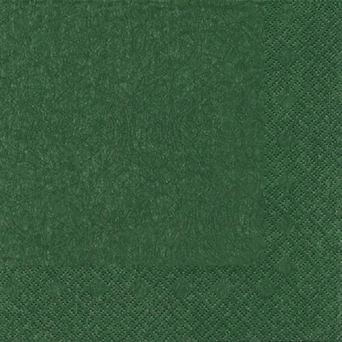 20 Servietten Modern Colours dunkelgrün 33x33cm