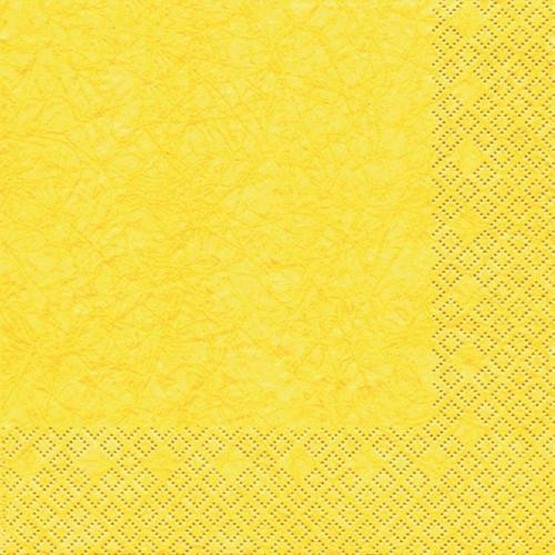 20 Servietten Modern Colours gelb 33x33cm
