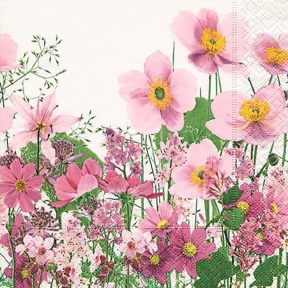 20 Servietten Claire Herbst Blätter Besenheide Blumen Tischdeko Motiv 33x33cm