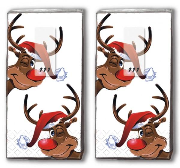 2x 10 Taschentücher Rudolph