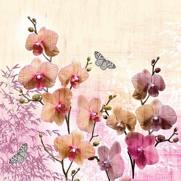 Ambiente Servietten Orchid Orient 33x33cm