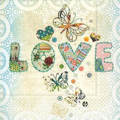 20 Servietten Love me too - Liebe für alle 33x33cm
