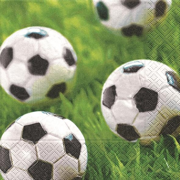 20 Servietten Go for Goal - Tore schießen 33x33cm