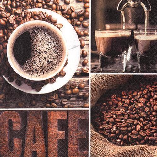 20 Servietten Coffee Flavour 33x33cm