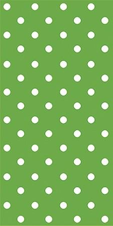 16 Servietten Snack Dots intense green - Punkte intensivgrün 33x33cm
