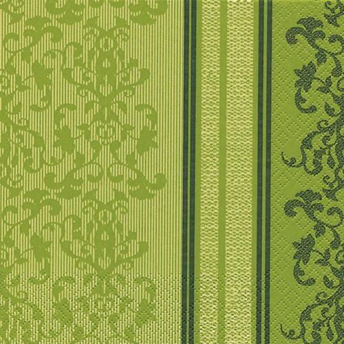20 Servietten Barock Lace grün 33x33cm
