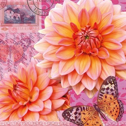 20 Servietten Summer Dahlia 33x33cm