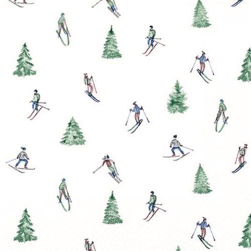 20 Servietten Skiing 33x33cm