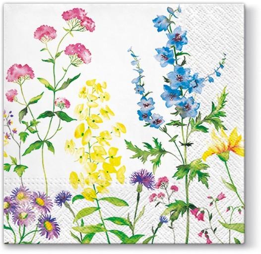 20 Servietten In my Garden – Wiese voller Blumen und Pflanzen 33x33cm