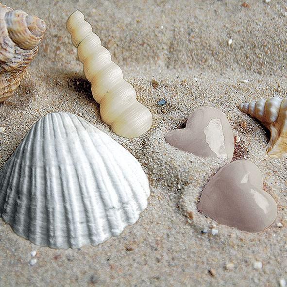 20 Servietten Hearts in Sand 33x33cm