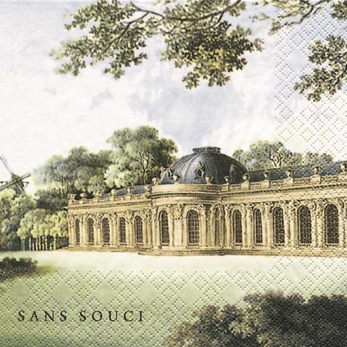 20 Servietten Schloss Sanssouci 33x33cm