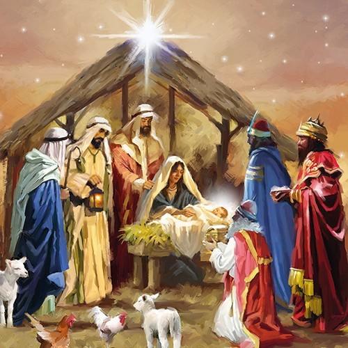 20 Servietten Nativity Collage 33x33cm