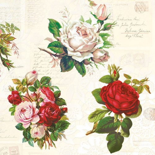 Maki Servietten English Roses 33x33cm