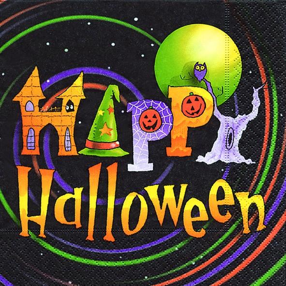 20 Servietten Happy Halloween 33x33cm
