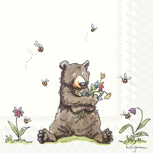 20 Servietten Honey Bear – Honigbär 33x33cm