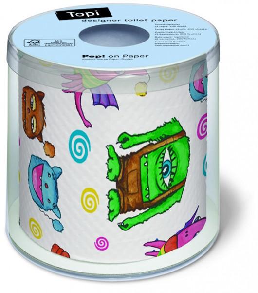 RP Toilettenpapier Rolle bedruckt Monster