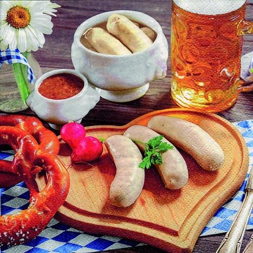 20 Servietten Bavarian Meal - Bayrische Mahlzeit 33x33cm