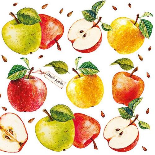 20 Servietten Sweet Apple 33x33cm