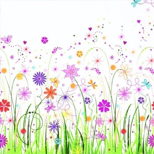 20 Servietten Enchanted Floral Meadow - Zauberhafte Blumenwiese 33x33cm