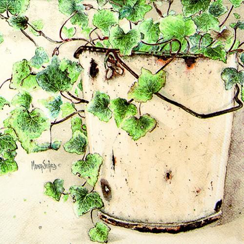 20 Servietten Ivy - Blühender Efeu 33x33cm