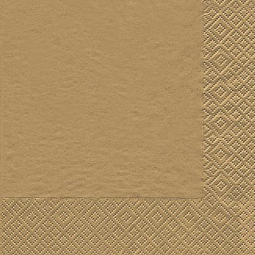 20 Servietten Modern Colours gold 33x33cm