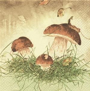 RP 20 Servietten Three Mushrooms - Drei Pilze 33x33cm