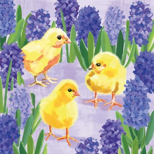 PPD Servietten Chicks in Hyacinth 33x33cm