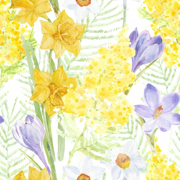 20 Cocktailservietten Spring Mantra – Decke an Frühlingsblumen 24x24cm