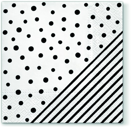 20 Servietten Dots and Stripes