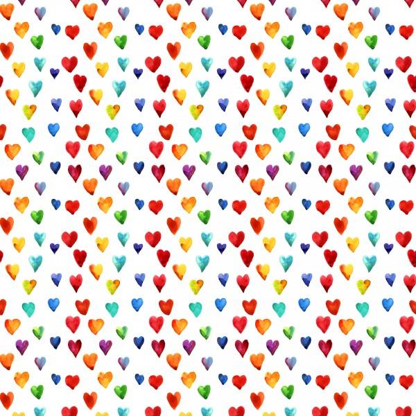 20 Cocktailservietten Pride – Herzregen bunt 24x24cm