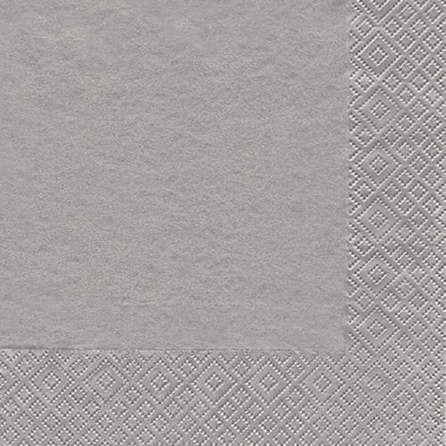 20 Servietten Modern Colours silber 33x33cm