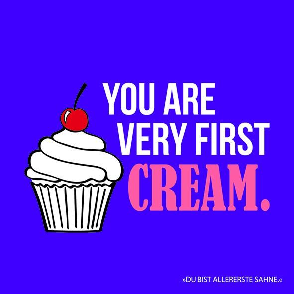 20 Servietten You are very first Cream 33x33cm