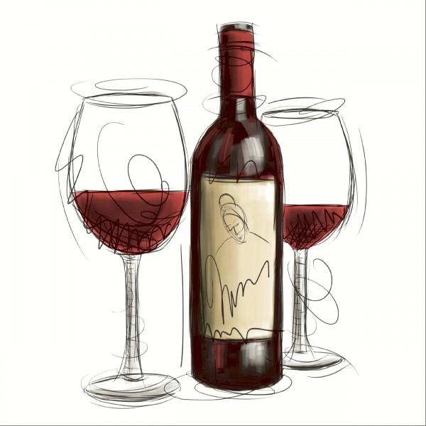 20 Cocktailservietten Vino Rosso – Schluck vom Rotwein 24x24cm