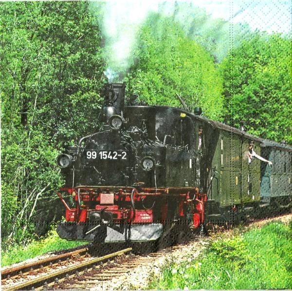 Servietten Steam Train 33x33cm