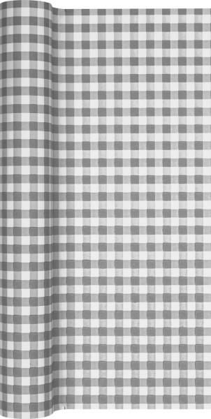 Tischläufer Karo grau 490x40cm
